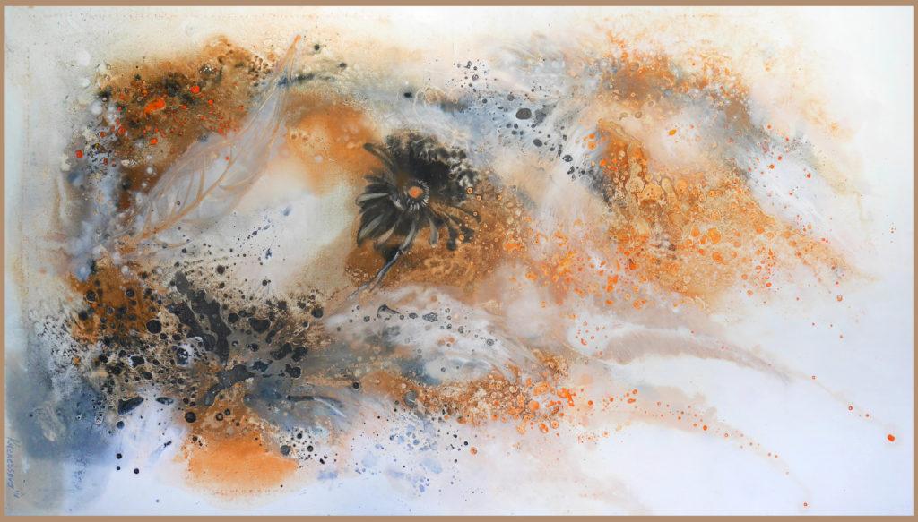 """Летний сон"", 85*150 см, холст, смешанная техника, 2016. / ""Summer dream"", 85*150 cm, canvas, mixed technique, 2016"